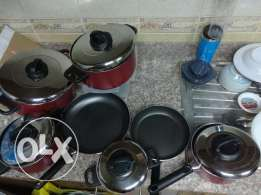 9 Pieces Cooking Pans ( Excellent Condition) - Same like new