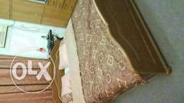 Cot with Orthopedic mattress and 2 side tables