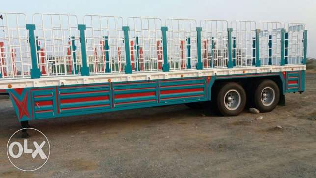 new heavy duty flat bed trailers with side grill, talaja, tyre carrier