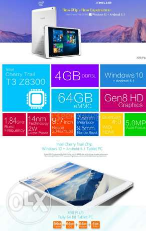 Tablet dual windows 10 + Android 5.2 السيب -  3