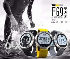 F69 Smart BT Swimming Watch - BLACK AND SILVER