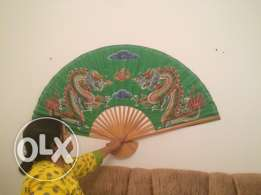 Chinese wall decor fan