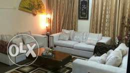 Sofa set ( 3+2+2) very good condition bought from home centre