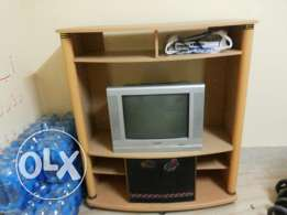 TV trolley with TV dish & dish receiver
