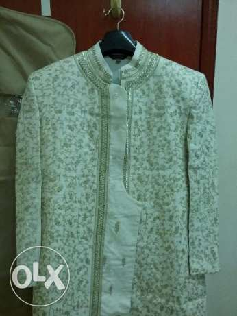Sherwani with Kurta & Pajama ( Size 40 ) along with 2 blazers(Size 40) الغبرة الشمالية -  1