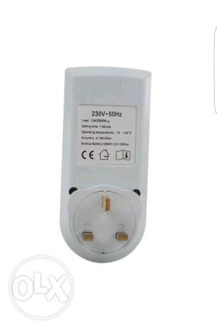 LCD Digital Power Programmable Timer Socket Switch 230V AC LCD Display السيب -  4