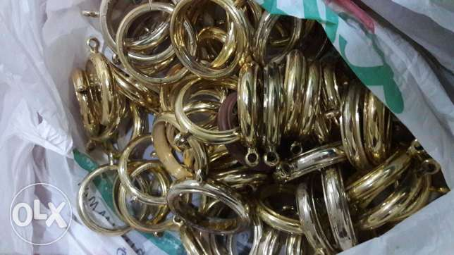 Curtain pipe rings and clips
