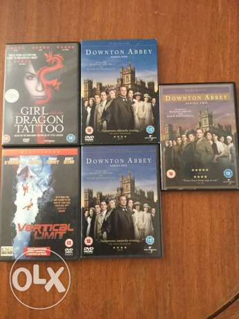Dowton Abbey, Girl with Dragon Tattoo, Vertical Limit DVDs