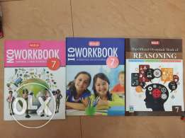 Olympiad books(English,Reasoning and cyber)of grade 7