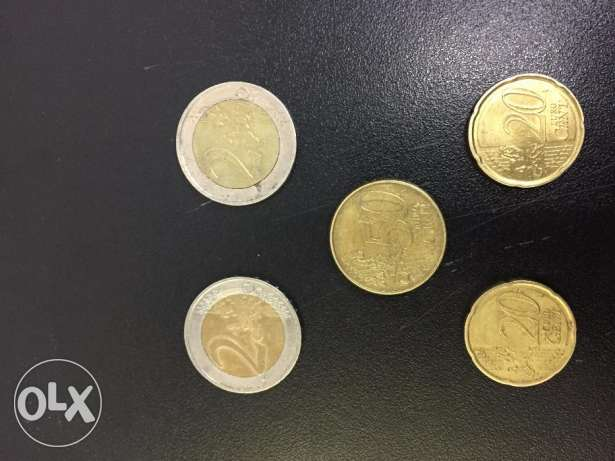 Circulation coins of Euro