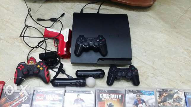 ps3 with all accessories مسقط -  1