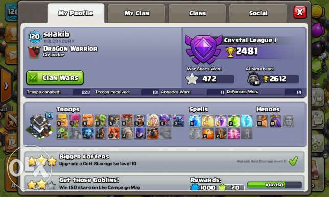 TH9 max clash of clan id just dont max wal or all max بركاء -  2