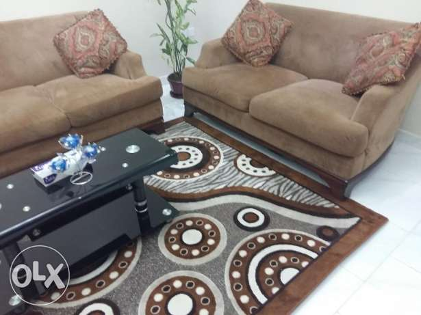 7 Seater Luxury Sofa With Matching Curtain And Carpet For Sale Al Seeb