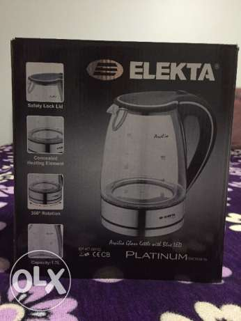 ELEKTA electric kettle with blue LED