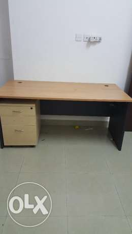 Table and chair for sale.