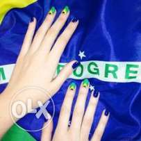 henna nail colour - green , blue- buy 2 get 1 free