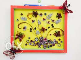 Wall decorative paper quilling design