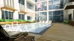 high end newly built rooftop apartment Ras Al Hamra pool view