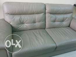 Beautiful 1 year old Beautiful Leather sofa 3+ 2 +1 for sale
