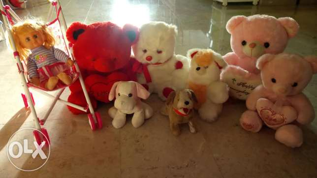 Beautiful soft toys and baby stroller toy