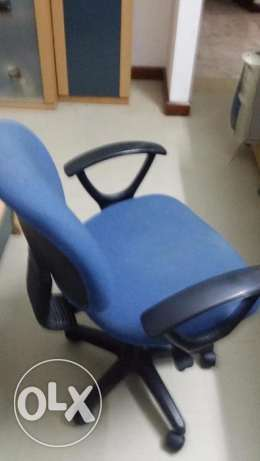 study chair secretary type back support adjustable height blue
