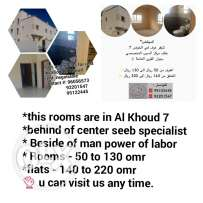 Rooms and flats for rent