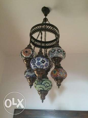 Oriental Lamp - wonderful colours with 7 bowls مسقط -  1