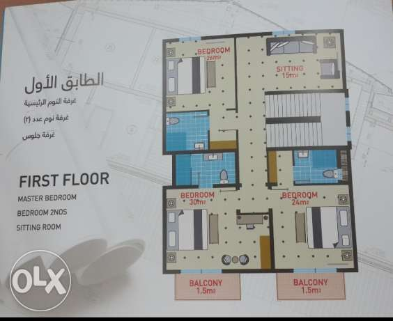 New town house in Jaran complex for rent السيب -  1