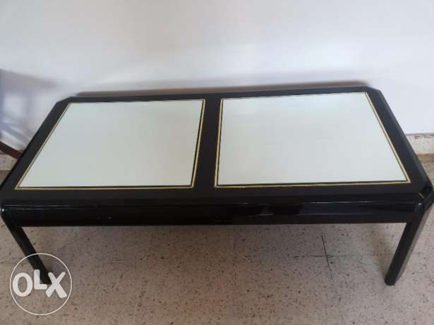 Black centre glass table + 2 black side table (2+1+1)