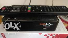 Dish TV receiver with antenna