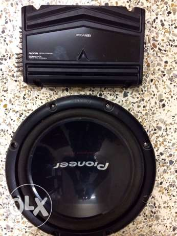 Pioneer 1000W 12inches SubWoofer + Kenwood 500W Amplifier For Sale