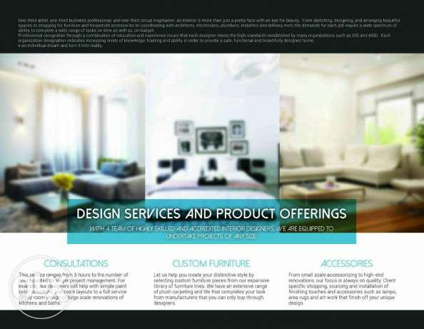 Exhibition of furniture and architecture of interior design for sale .