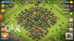 Clash of clans th9 acc for sale