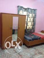 Room for Indian Ex.Bachlr in Ruwi, Nr. Bus stand with Furniture