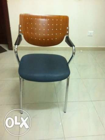 Solid Steel and Wood Chairs For Sale In Good Condition In Al Khuwair بوشر -  1