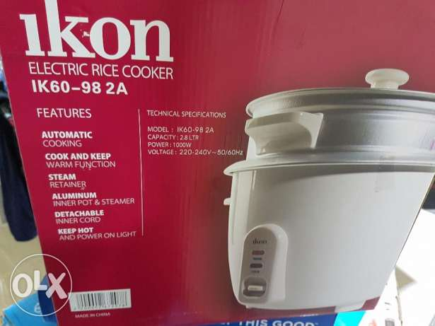 Pressure cooker (rarely used). Rice cooker (new)