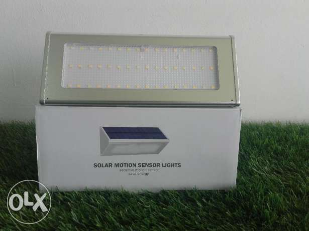 Solar motion sesnor wall light