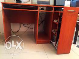 Computer Table with CD rack drawer