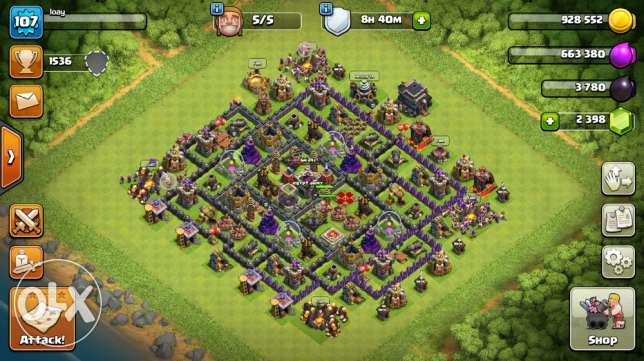clash of clans lvl 9 full upgrade for iphone only