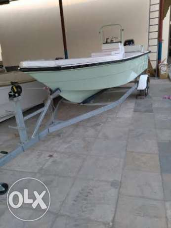 Boat 20 feet - 2100 OMR with galvnized traileer..
