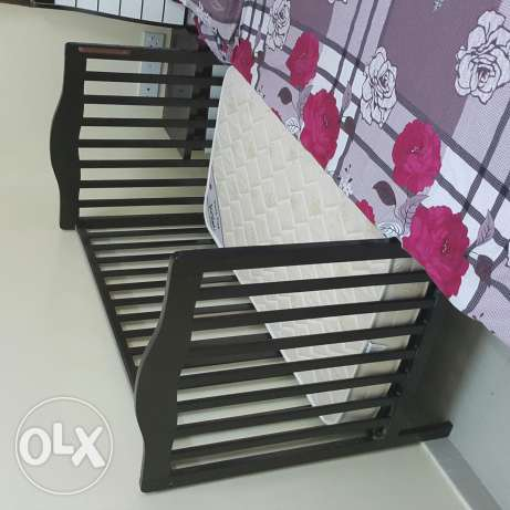 Baby bed with metres