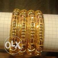 silver bangle gold plated