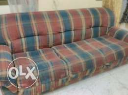 Good Condition Sofa 3 + 1 +1 seat coushin seat - urgent sale