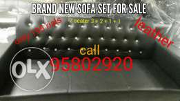 New sofa set leather 7 seater