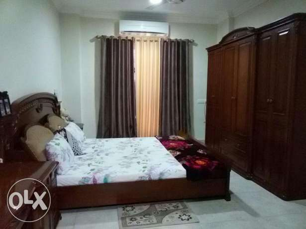 Double bed, single bed & dining table