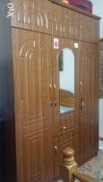 Wooden Wardrobe 3 Doors and Sofa set 5 seater good condition