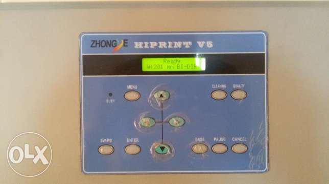 Zhongye 1.8m eco solvent digital printer with DX5 head FOR SALE السيب -  4