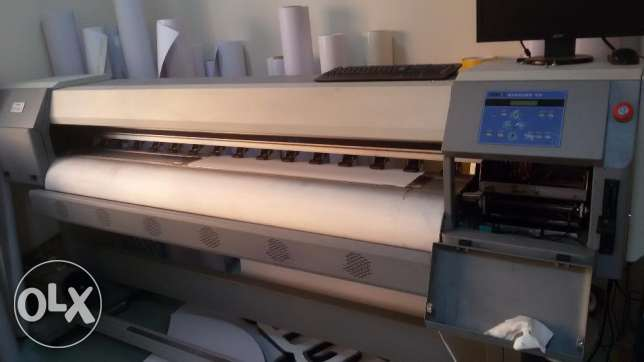 Zhongye 1.8m eco solvent digital printer with DX5 head FOR SALE السيب -  8