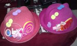Girl.hats 2pcs 4 yrs above