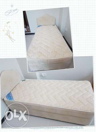 Raha single bed+mattress